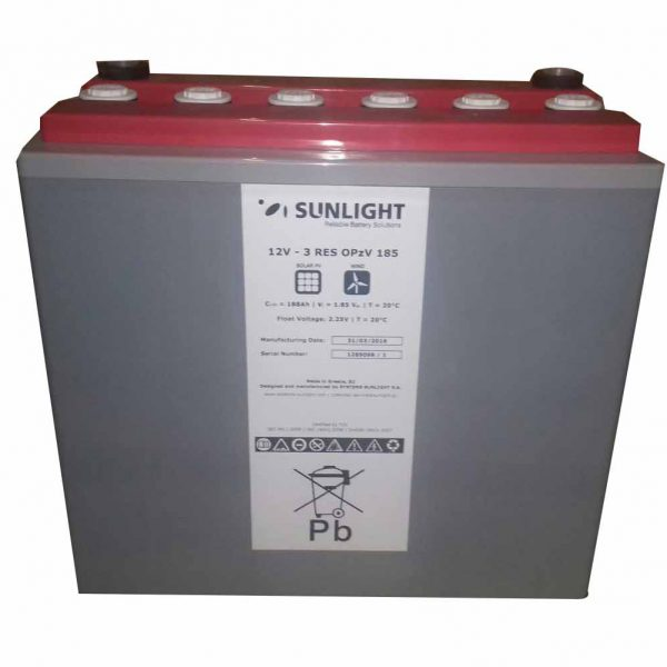 Cell Sunlight 12V 3 RES OPzV 185 Ah