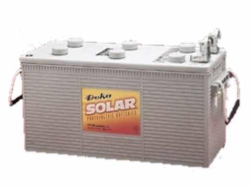 Deka Solar 8G4D Gel Solar 12 Volt Photovoltaic Battery