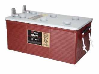 Trojan 8D-GEL 225Ah 12V solar battery