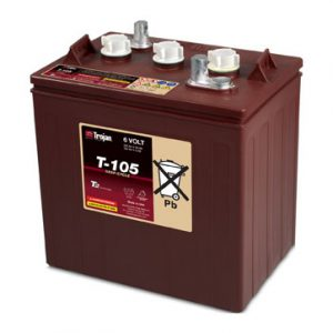 Trojan T-105 6 Volt Deep-Cycle Flooded Battery